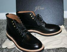 NEW JCREW $248 Mens Kenton Leather Pacer Boots 8M Black Shoes c8867