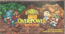 Overpower Monumental Marvel CCG Starter Deck  Box  -Factory Sealed -