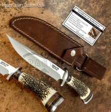 IMPACT CUTLERY RARE CUSTOM D2  BOWIE KNIFE STAG ANTLER HANDLE