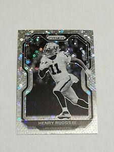 HENRY RUGGS III 2020 PRIZM NO HUDDLE ROOKIE RC Black & White Neg Image Variation