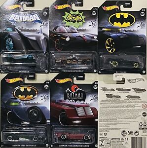 Hot Wheels Batman Set Of 5 Batmobile 2021 New Release