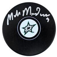Stars Mike Modano Authentic Signed Dallas Stars Logo Hockey Puck BAS Witnessed