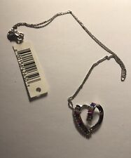 Heart pendant with chain. NWT