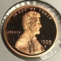 1995-S LINCOLN MEMORIAL CENT PROOF. COLLECTOR COIN FOR YOUR SET. 2