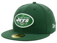 New York Jets New Era NFL On Field 59FIFTY Cap - NWT Green Fitted Hat Size 7 3/8