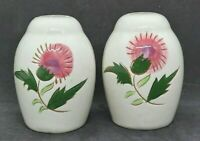 Vintage Stangl Pottery Thistle Salt and Pepper Shaker Set
