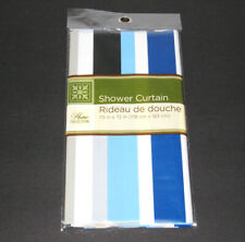 💕 NEW HOME COLLECTION SHOWER CURTAIN 70X72 INCHES Rideau de douche Blue Colors