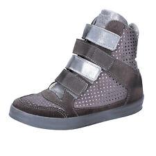 scarpe donna BEVERLY HILLS POLO CLUB 37 sneakers zeppa grigio camoscio AJ15-37