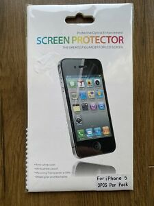 PROTECTIVE OPTICAL ENHANCEMENT SCREEN PROTECTOR FOR APPLE IPHONE 5 (3 in pack)