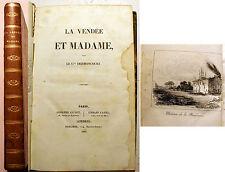 REVOLUTION FRANCAISE/LA VENDEE ET MADAME/GNL DERMONCOURT-A.DUMAS/ED GUYOT/1922
