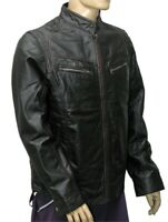 New Men's 100% Real Leather Motorbike/Motorcycle/Black color JACKET Size-XXL -5