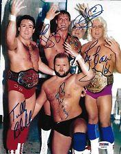 Ric Flair Arn Anderson Lex Luger + 4 Four Horsemen Signed 8x10 Photo PSA/DNA WWE