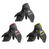 Dainese Full Metal 6 Motorcycle Leather Carbon Fiber Titanium Race Gloves