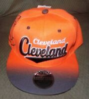 CLEVLAND BROWNS  Hat Cap Script Visor Embroidered Brown and orange #6