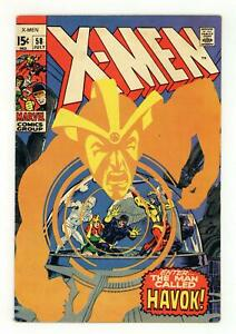 Uncanny X-Men #58 VG 4.0 1969