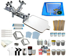 Techtonda 4 Color 1 Station Screen Printing Kit Materials Package Squeegee