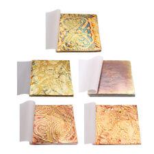 50 Fogli Foglia Oro Variegata Per Doratura Artistica Decorazione Artigianale 5.5
