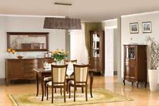 Klassiches Esszimmer Set Kommode Tisch Stühle Vitrine Wohnzimmer Set Italien Neu