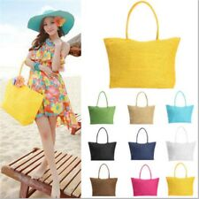 Women Summer Straw Weave Shoulder Tote Shopping Beach Bag Lady Handbag #alt