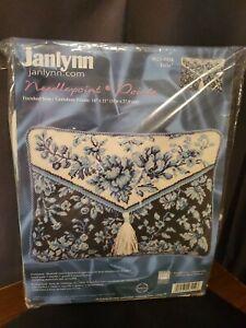 "Janlynn Needlepoint Kit☆ Toile Pillow Kit ☆ 14"" x 11"" - #023-0154 (2004) Blue!"
