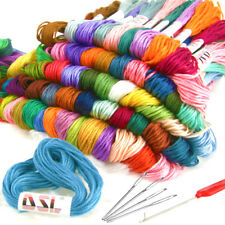 120 X Skein Coloured Embroidery Thread Cotton Cross Stitch Braiding Craft Sewing