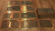 RARE Beautiful Antique Circuit Board Double Side Art Scrap Gold Copper MFR 94117