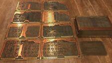 RARE Beautiful Antique Circuit Board Double Side Art Scrap Gold Copper MFR 94117