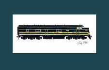 """Maine Central E7 11""""x17"""" Matted Print Fletcher signed"""