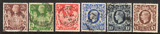 1937-1948 GB Great Britain, SC 249-251A & 275 SG 476-478b, KGVI Set of 6 Used*