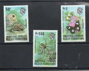 BRITISH INDIA OCEAN TERRITORY STAMPS 1973 WILDLIFE VERY VERY LIGHTLY MINT