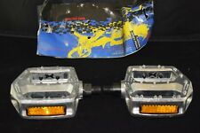 GT platform pedal set 1/2 inch old school bmx silver vintage aluminium NOS NIB
