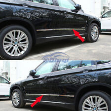 Chrome Body Side Door Moulding Trim Overlay Cover For BMW X5 2014 2015