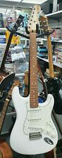 More details for fender player series stratocaster electric guitar pf pwt polar white 75th