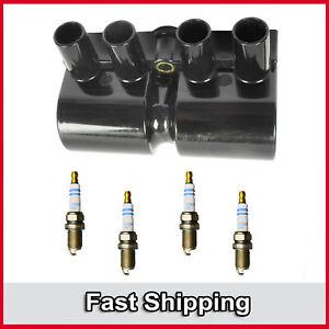 UF356 Ignition Coil & Bosch Platinum Spark Plug 5PCS For Isuzu Rodeo Amigo 2.2L