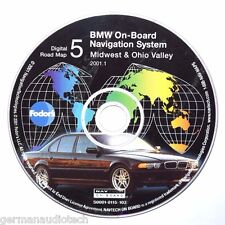 BMW NAVIGATION CD DIGITAL ROAD MAP DISC 5 MIDWEST OHIO VALLEY S00010115103  2001
