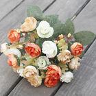 21heads Artificial Silk Small Flowers Rose Bunch Wedding Home Outdoor Decor New