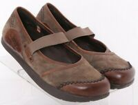 Earth Allure Caribou Brown Stretch Kalso Comfort Mary Jane Flats Women's US 7B
