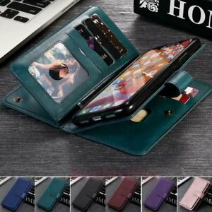 For Google Pixel 5 4A 5 XL Flip Wallet 10 Card Holder Leather Phone Case Cover