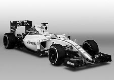 Williams F1 Car Large Poster Art Print Black & White Card or Canvas