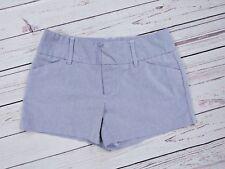 "Daisy Fuentes Casual Shorts Blue White Chino Women's Size 6 31"" Waist 3.5"" Long"