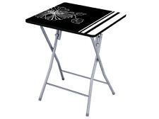 Mesa Plegable Flower 60 x 60cm Negro - Blanco Patio