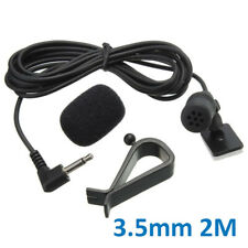 3.5mm Microphone Car Enabled External Mic Plastic+metal Black Audio DVD 1Pcs