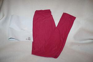 Women Lularoe Solid Raspberry Red Leggings Size OS