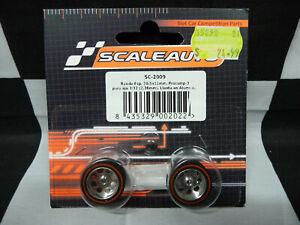 Scaleauto SC-2009 Procomp 3 3/32 (2.38mm) Aluminium wheels and tyres 20.5x11mm