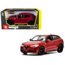 Alfa Romeo Stelvio Quadrifoglio Red 1/24 Diecast Model Car by Bburago 21086r