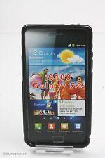 Schutzhülle Samsung Galaxy S2 i9100 Tasche Hülle Design Case schwarz S transp...