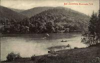 1908 Stempel u. AK Bad Lauterberg am Harz Partie am Wiesenbeker Teich Ruderboote