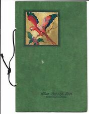 2 Vintage Blue Parrot Inn Menus - Denver - 1938