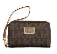 Michael Kors Essential Zip Phone Wallet Handbag for Women's, Brown Monogram