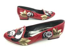 Margaret J. Jerrold Women Shoes Vintage 1980's Panda Design Slip On 5 M Leather